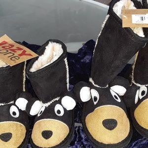 Children's lined warm slip on 🐻 boots